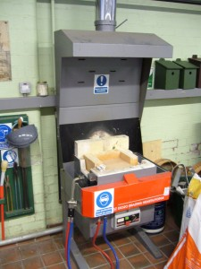Flame Fast Heat Treatment with extraction hood